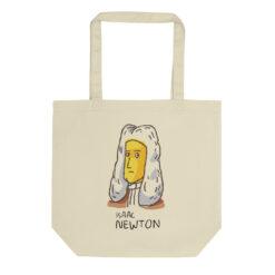 Yellow Newton Tote Bag
