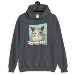 Grumpy Math Cat Hoodie
