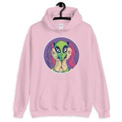 Unzipping Alien Hoodie