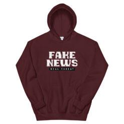 Fake News Real Threat Hoodie