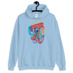 Cubist Pi Symbol Hoodie