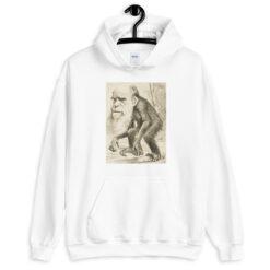 Darwin As an Ape Hoodie